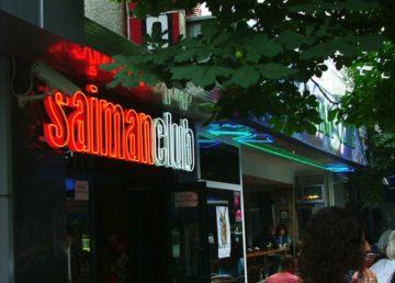 Неонов надпис SaimanClub