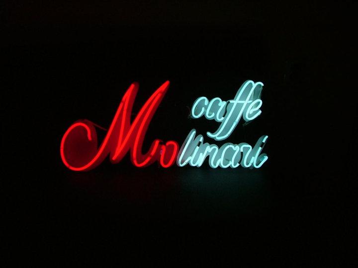 Неонов надпис Caffe Molinari