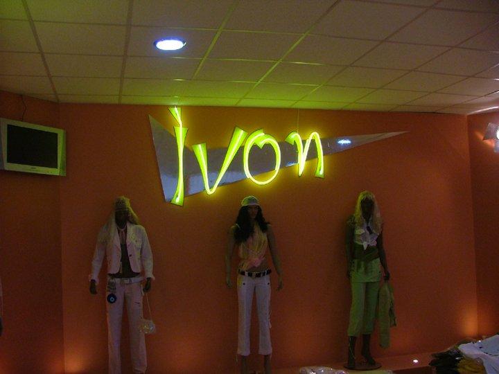 Неоново лого за магазин Ivon