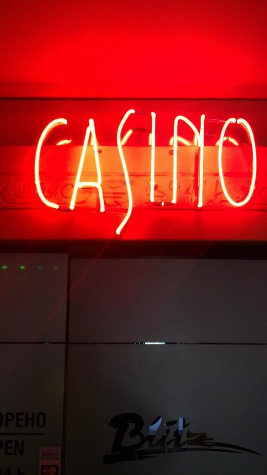"Неонова визия ""Casino"""