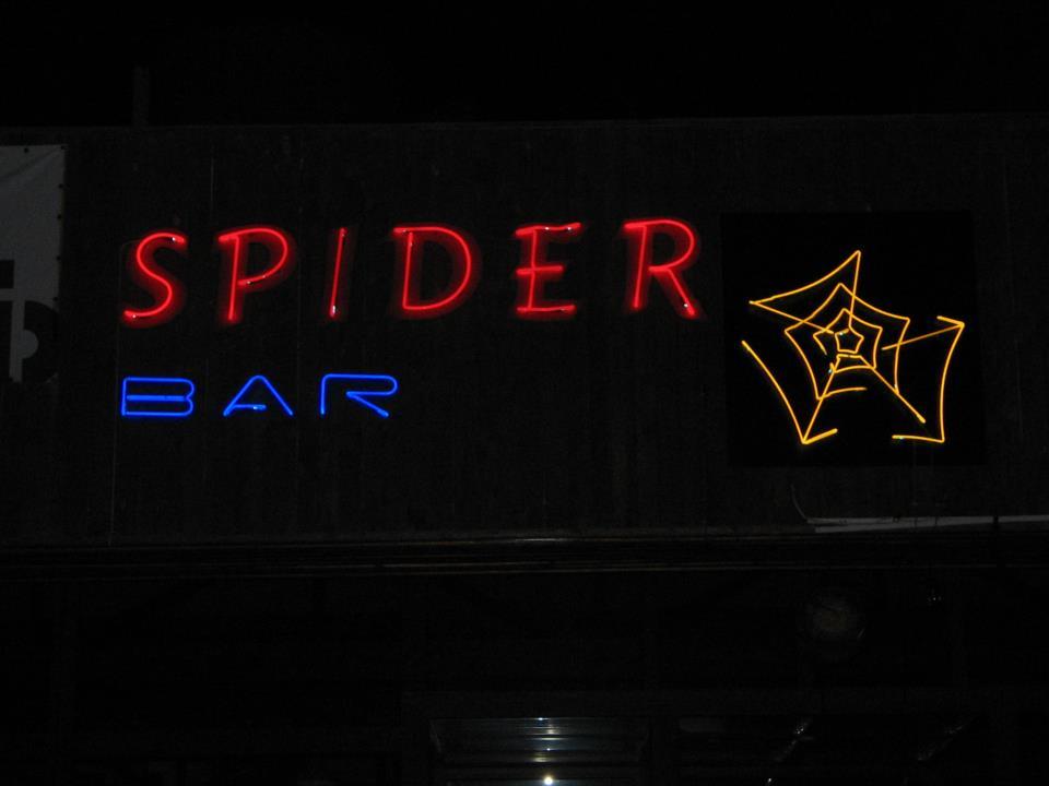 """Неоново лого """"Spider bar"""""""