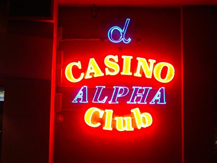 НЕОНОВ НАДПИС CASINO ALPHA CLUB