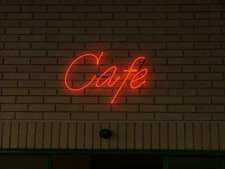 """НЕОНОВ НАДПИС """"CAFE"""""""