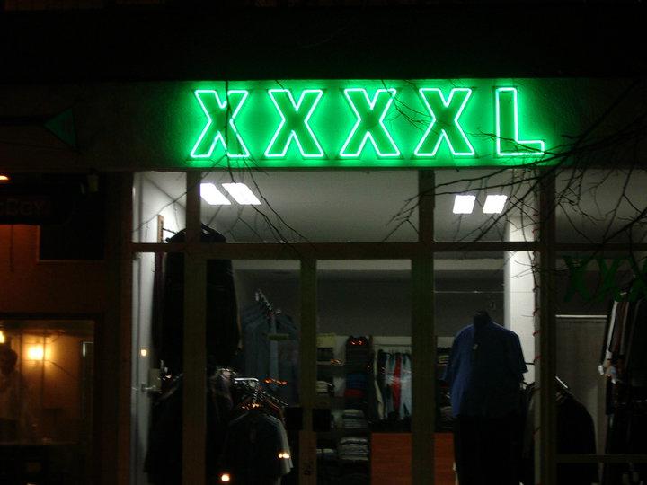 "НЕОНОВ НАДПИС ""XXXXL"""
