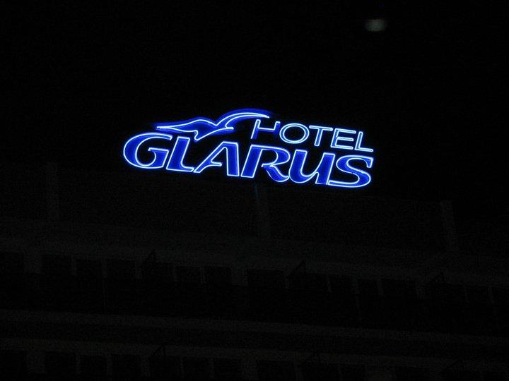 """НЕОНОВ НАДПИС """"HOTEL GLARUS"""""""