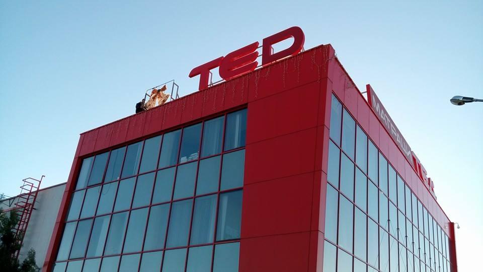 "Обемни букви ""TED"""