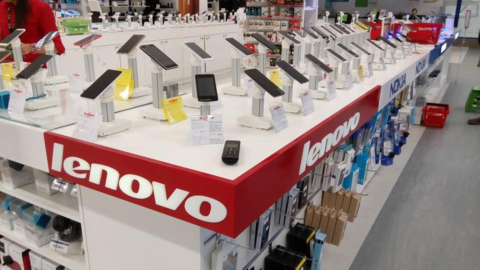 Брандиране на щанд Lenovo в Техномаркет