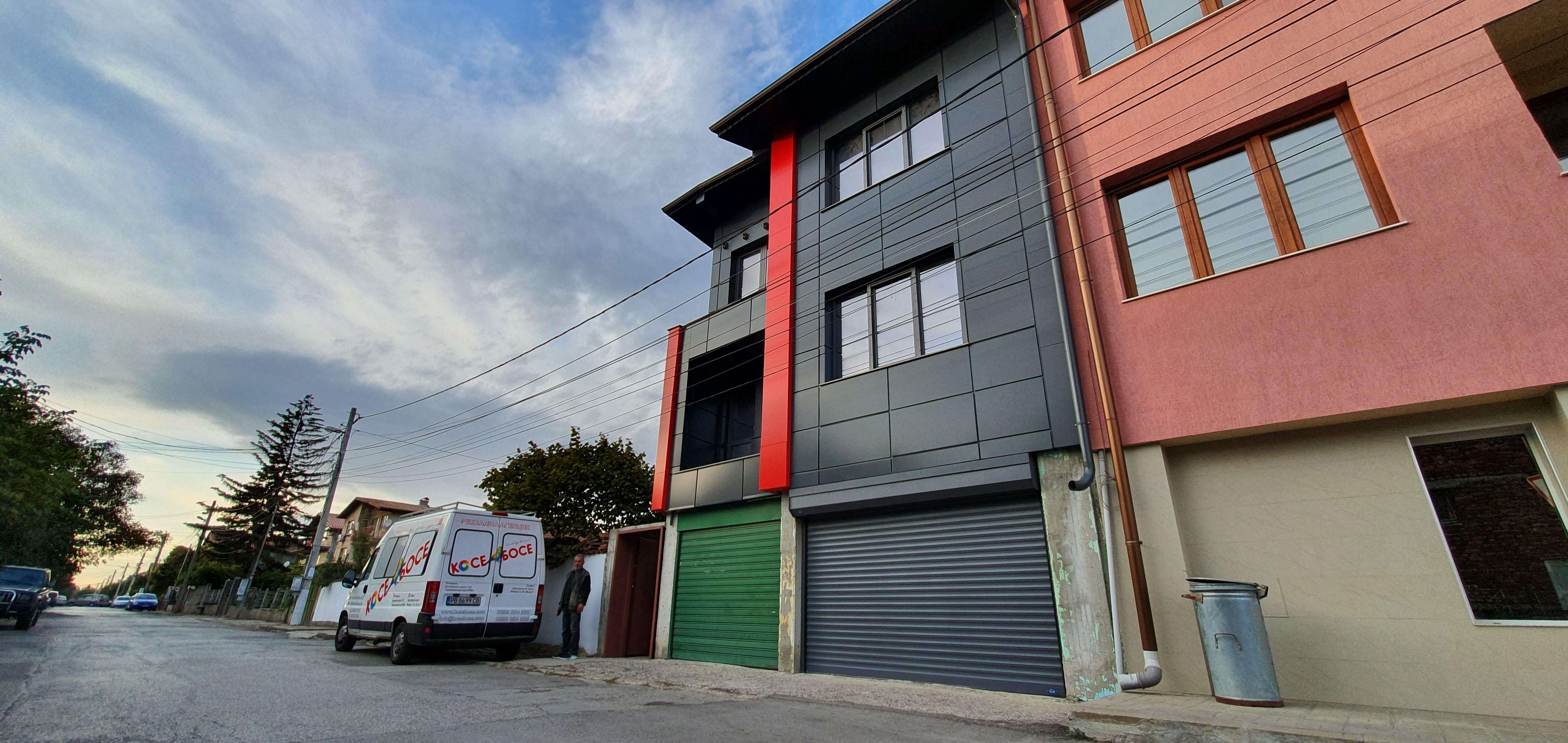 Облицовка на къща - окачена фасада с еталбонд 7