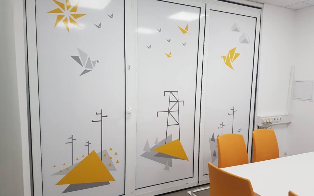 EVN – Стикери за стена и табелки